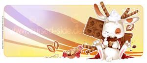 Chocolate bunny - cup motive