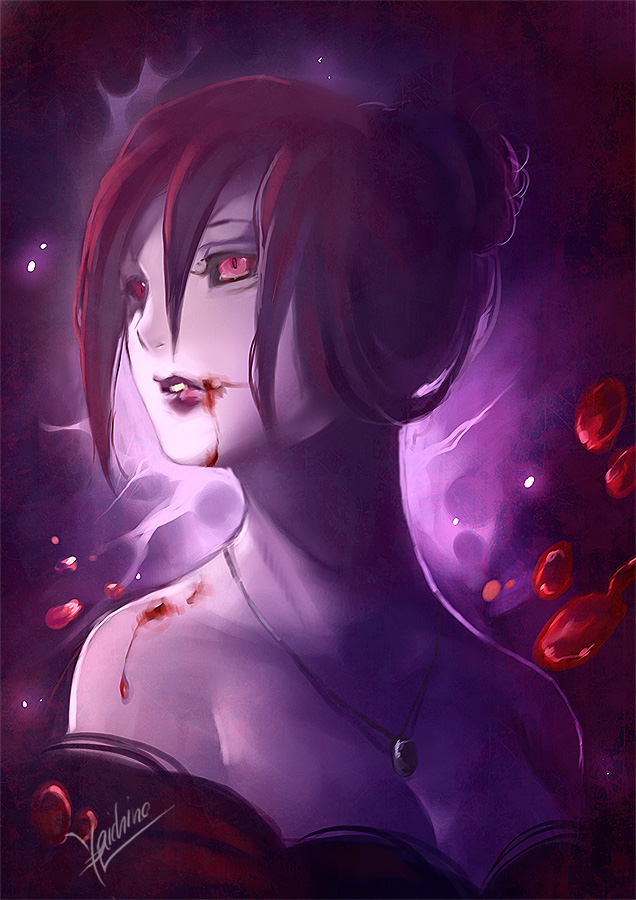 purple in red by yaichino