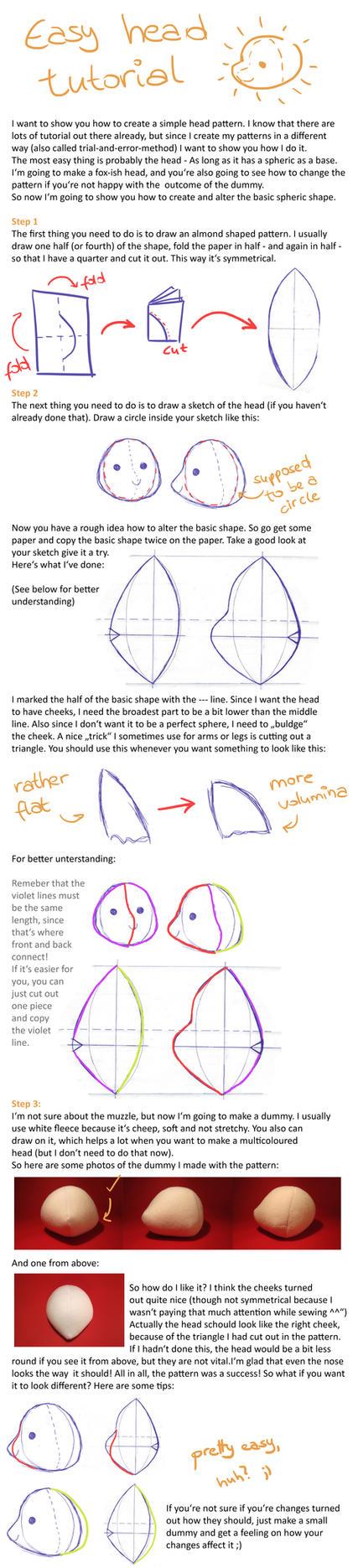 Simple plush head tutorial by Luminous-Luchador