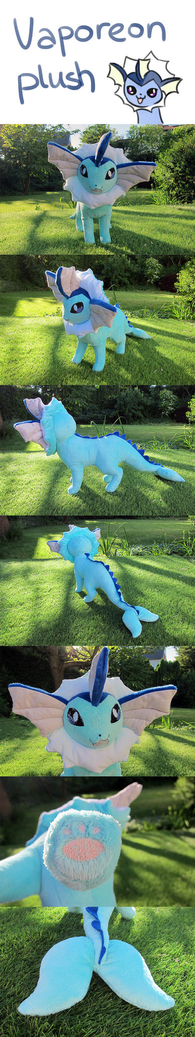 Vaporeon Plush --- for sale --- by Luminous-Luchador