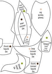 Leafeon plush pattern pt.2