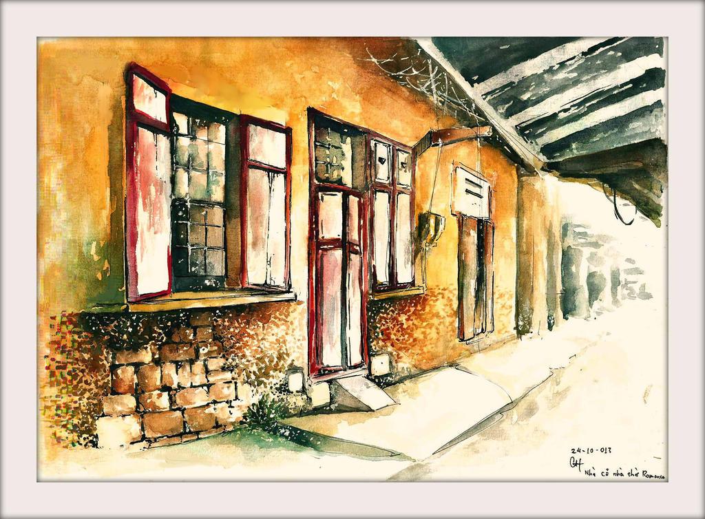 Sketch Old House In Da Lat .Viet Nam By Silverwolfnmc ...