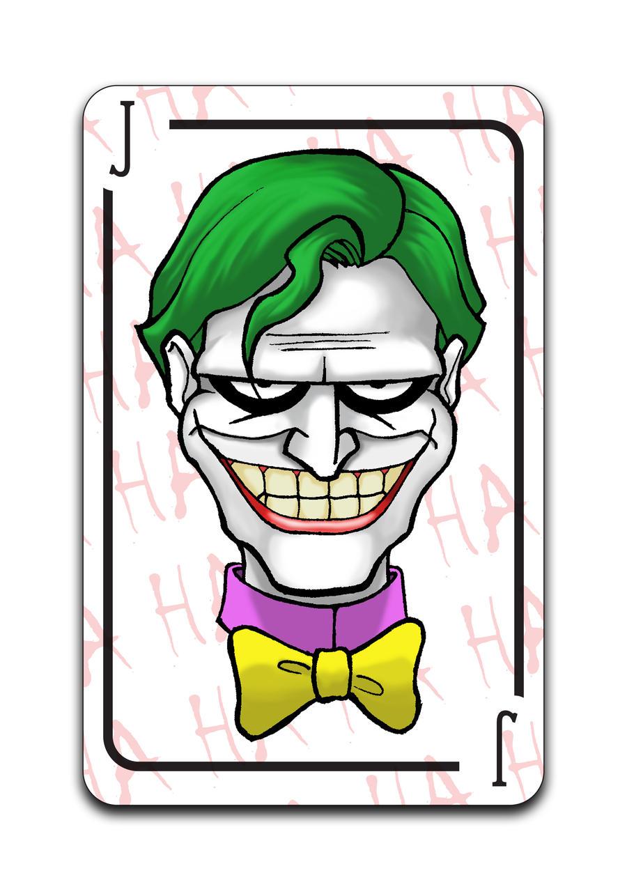 joker playing card batman