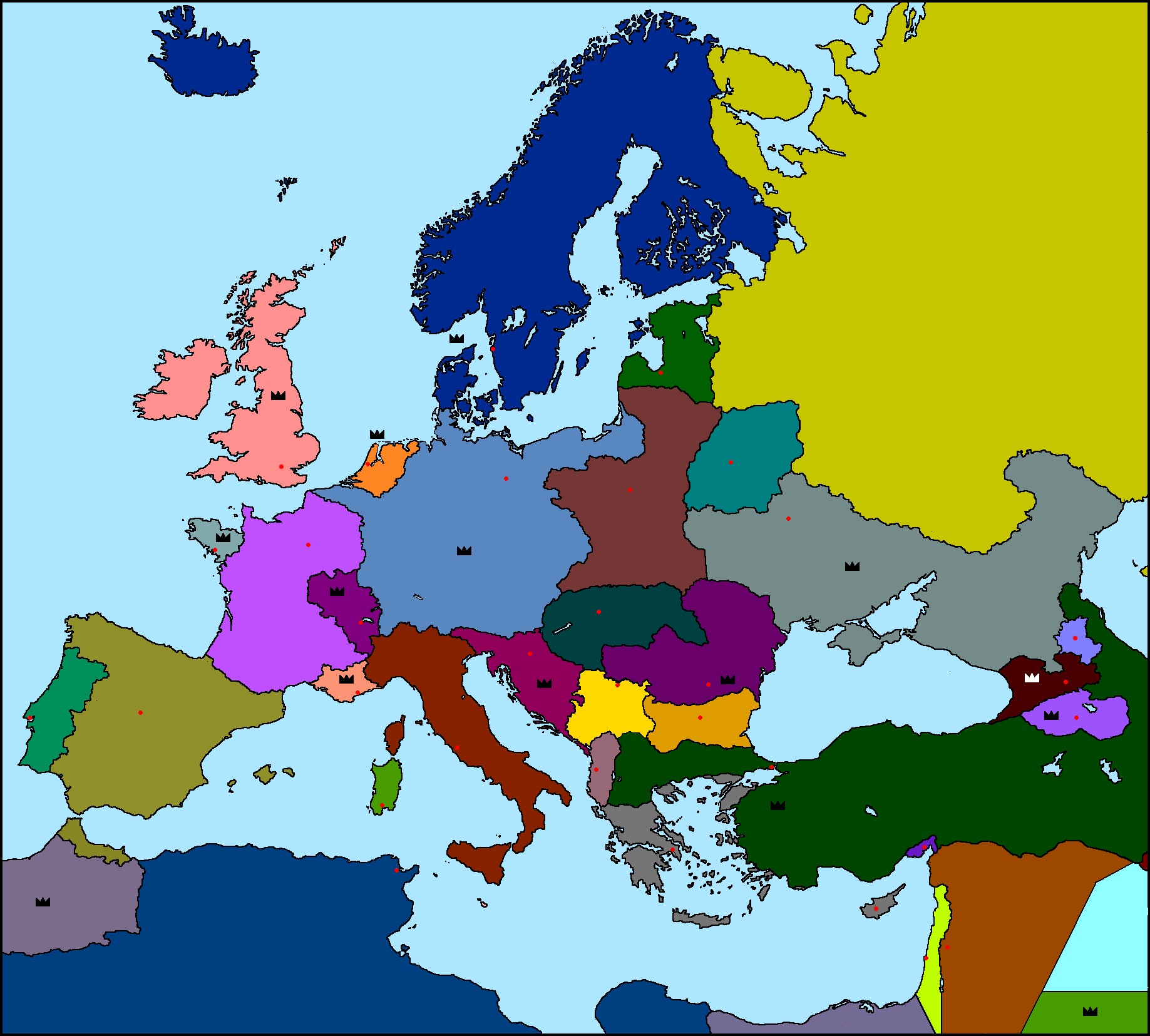 Blank Map Of Europe 1940. Female brains really ARE different to male ...