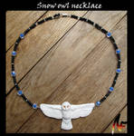 Snow owl necklace by Phoeline