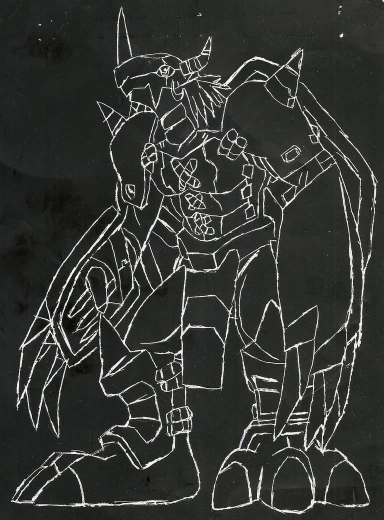WarGreymon Scratchart by MysteryFan