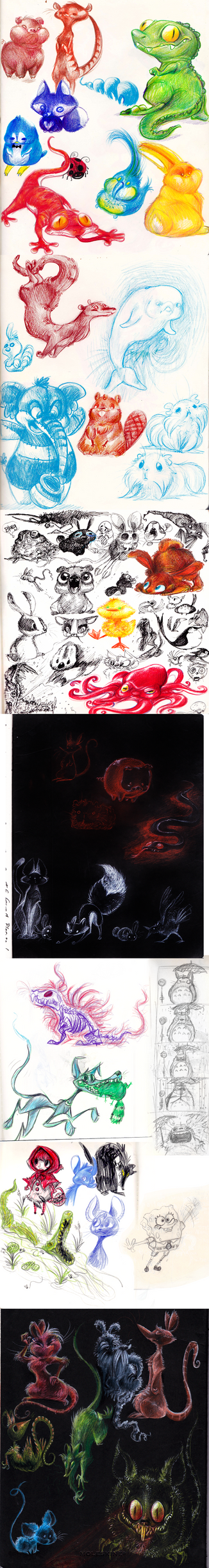 Notebook doodles by ArtistsBlood