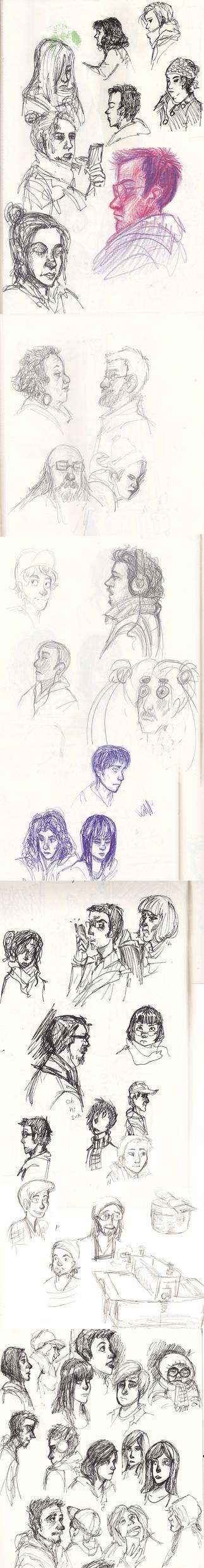 Observational Face Sketches by ArtistsBlood