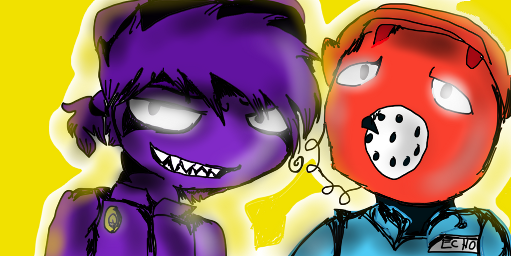 Purple guy x phone guy by mistydraw19 on deviantart