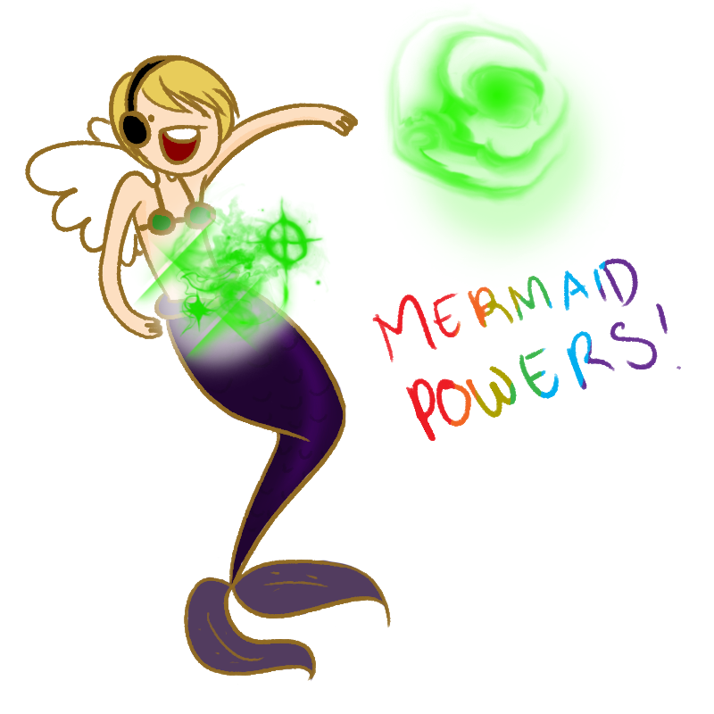 YOUTUBE STUFF AND THINGS: Mermaid Powers! by zeldaadicXD