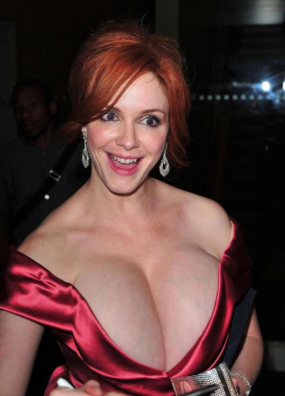 Christina Hendricks mega cleavage 2 by incredibleB