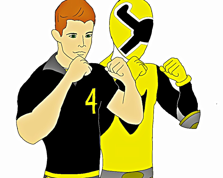 Yellow Energy Ranger! Alex Flintstone by Eddmspy