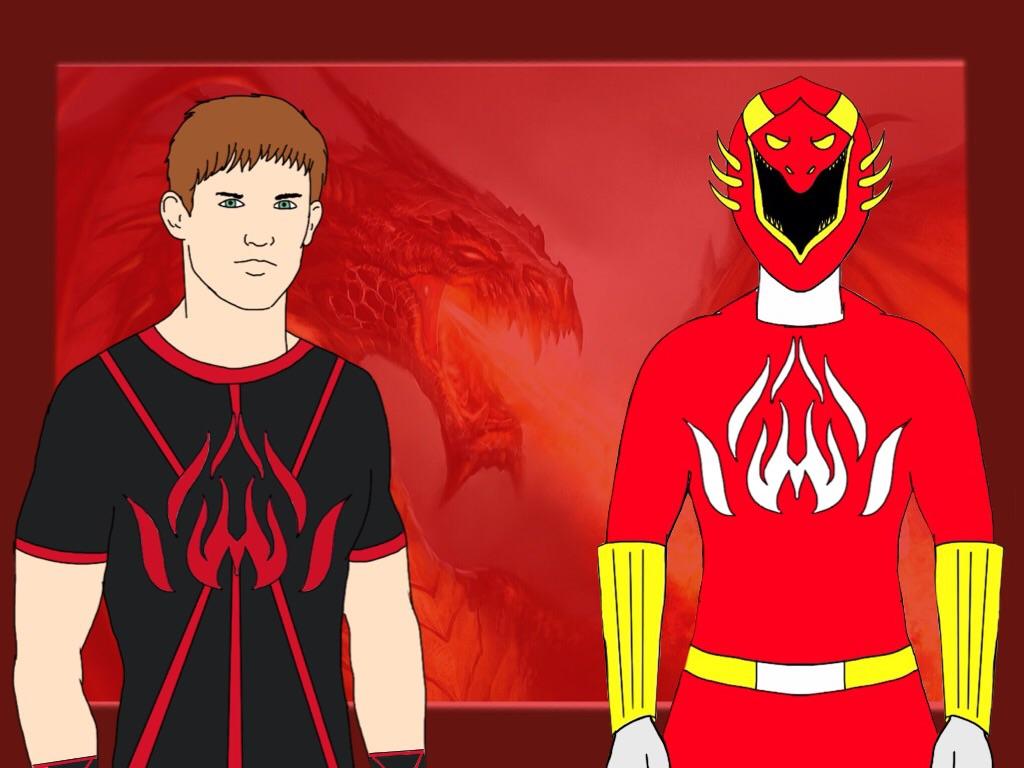 Red Elemental Ranger! Derek Coleman by Eddmspy