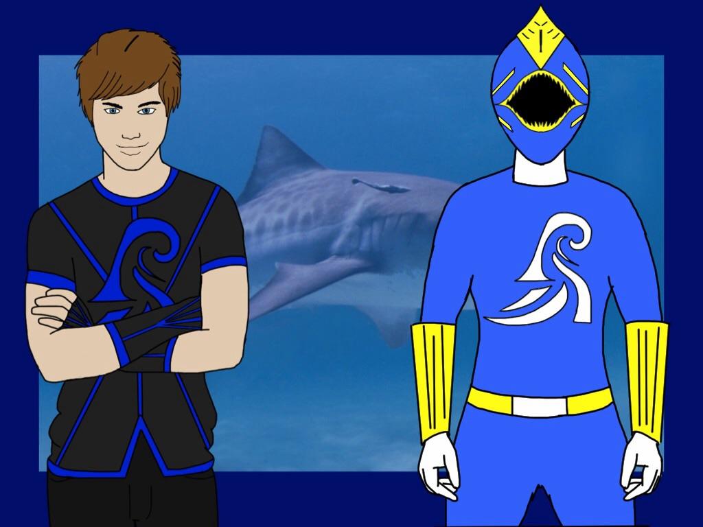 Blue Elemental Ranger. Liam Wade. by Eddmspy