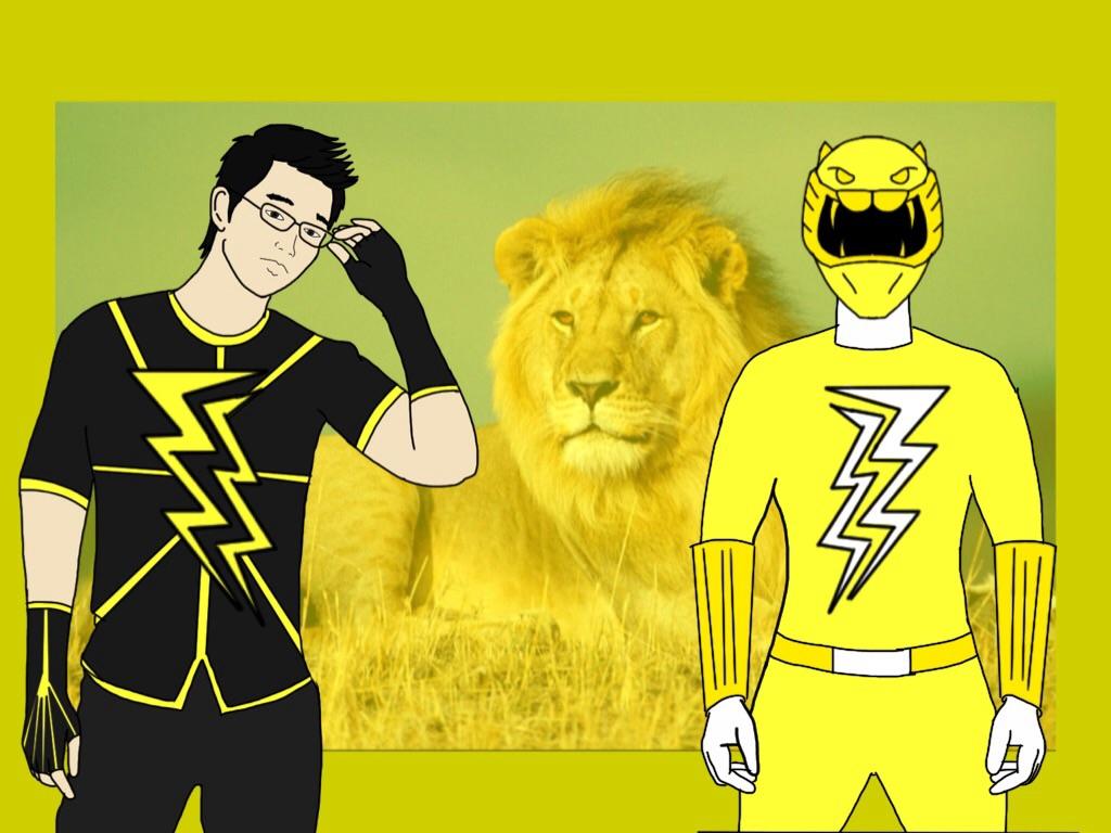 Colin Edison. Yellow Elemental Ranger. by Eddmspy