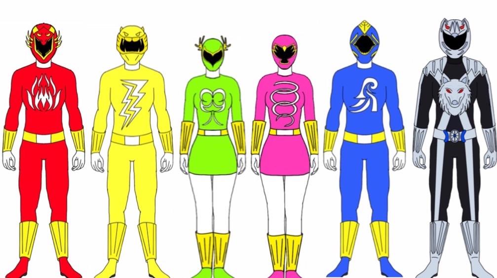 Power Rangers Elemental Masters Morphed by Eddmspy