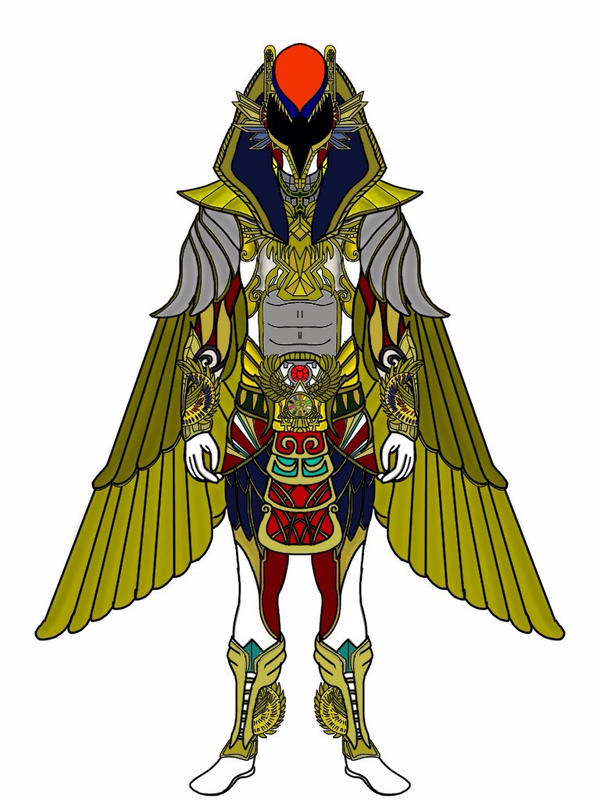 UPDATED Ancient Age Red Ranger-Amun Ra Battlizer by Eddmspy