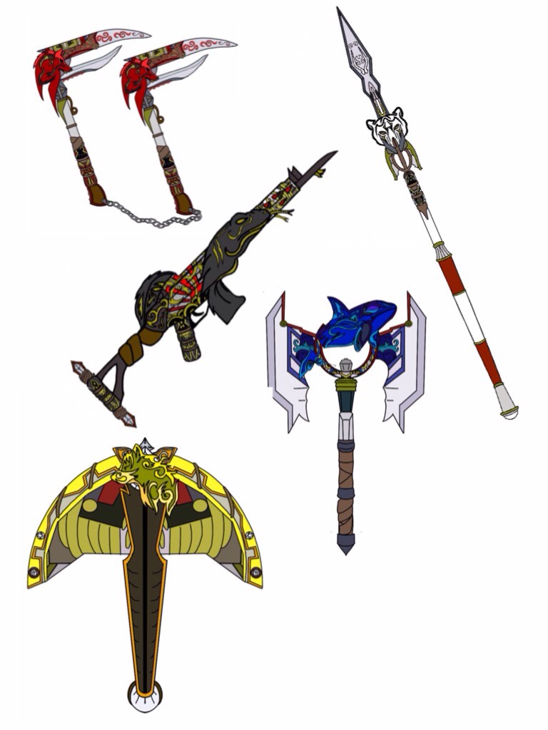 Power Ranger Slayer Weapons. by Eddmspy