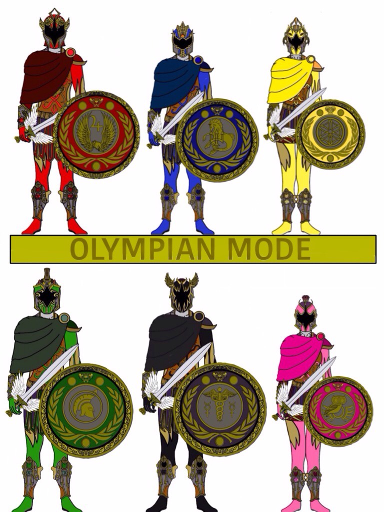Power Rangers Ancient Age. OLYMPIAN MODE (weapons) by Eddmspy