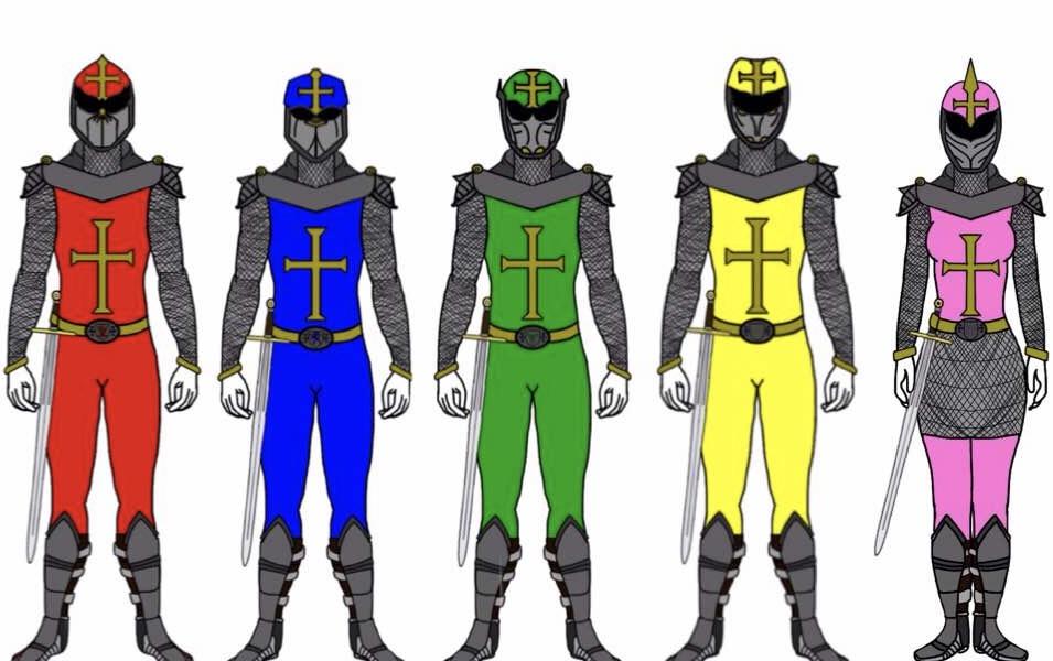 Power Rangers Knights by Eddmspy