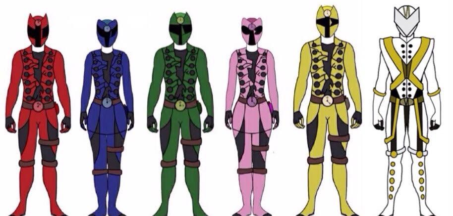 Power Rangers Steam Grinders by Eddmspy