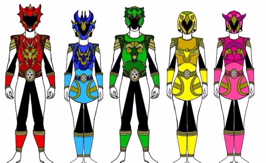 Power Rangers Elemental Knights by Eddmspy