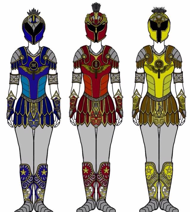 Power Rangers Shield Maidens by Eddmspy