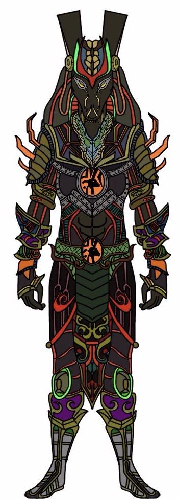Egyptian God SET in power rangers ancient age by Eddmspy