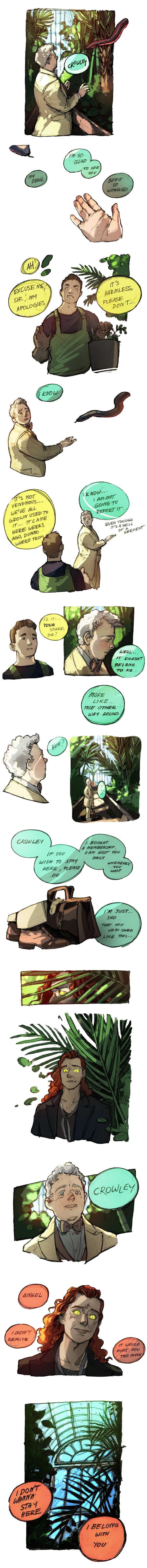 Aziraphale + Crowley on goodomens - DeviantArt