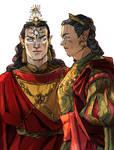 Feanor and Fingolfin in Valinor