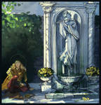 Glorfindel and a statue of Ecthelion