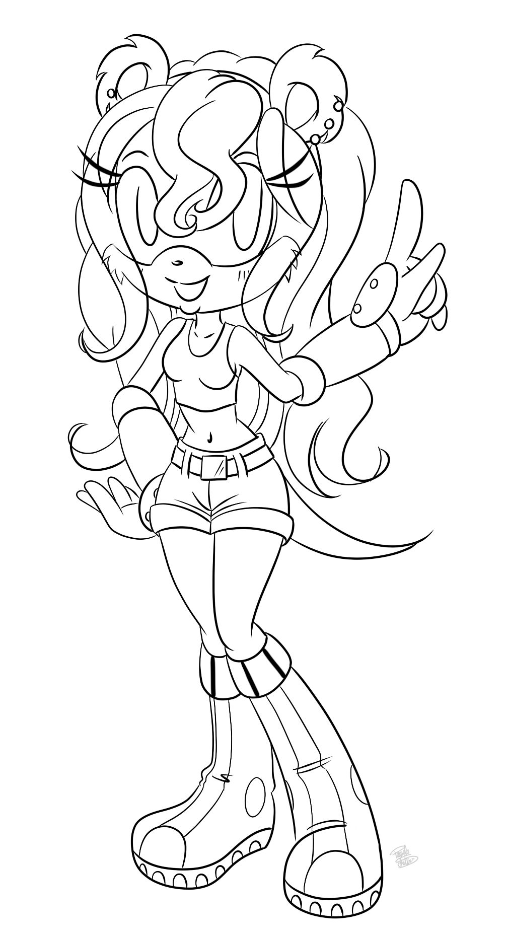 Mina mongoose lineart by zykalia on deviantart for Mongoose coloring page