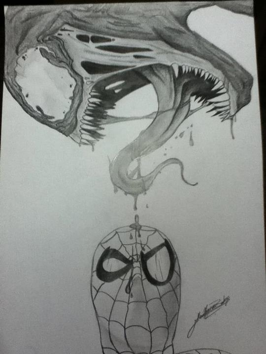 Spiderman drawings venom - photo#21