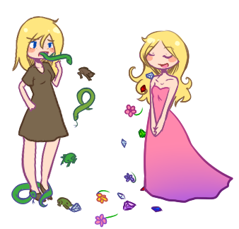 Toads and Diamonds by Nyappy-muffin