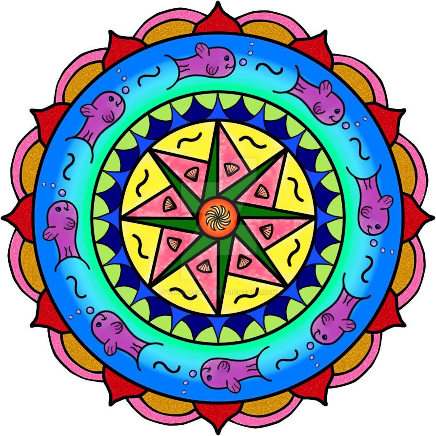 Mandala poisson by TheAskewBox