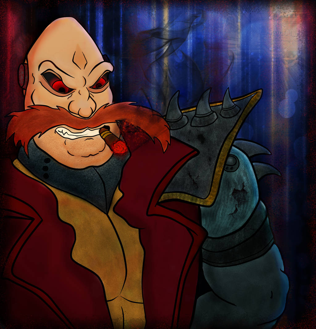 Concept Art:  Satam Robotnik. by TheRedStranger