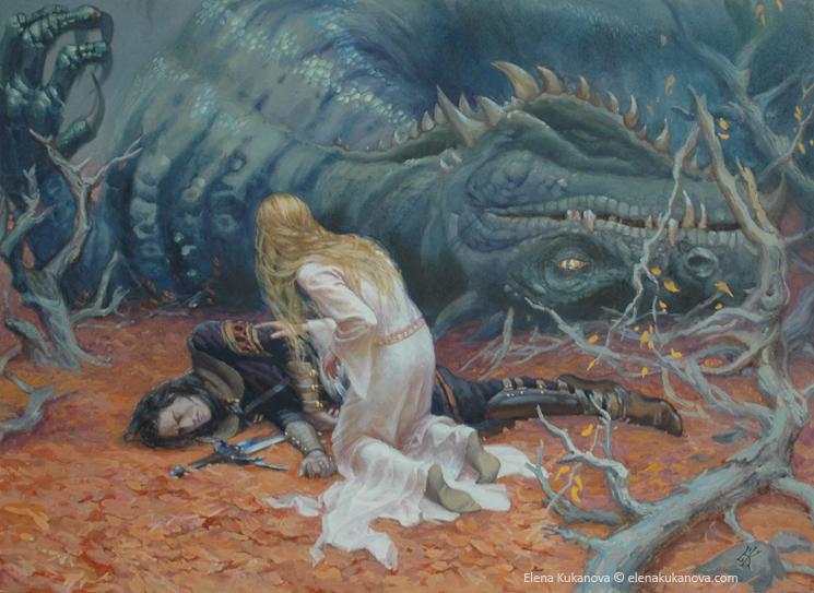 The death of Glaurung by EKukanova ...