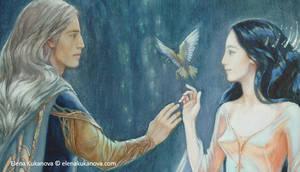 Elwe and Melian    fragment by EKukanova