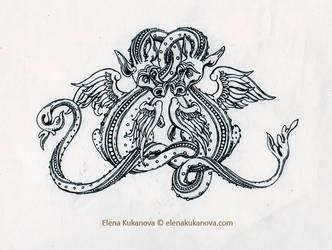 Swamp dragons by EKukanova