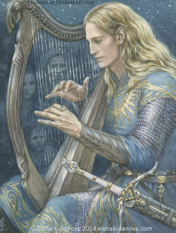 Finrod.  First encounter with Edain by EKukanova