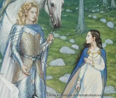 Andreth and Aegnor- fragment by EKukanova