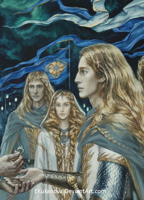 Finrod Galadriel Orodreth- fragment by EKukanova