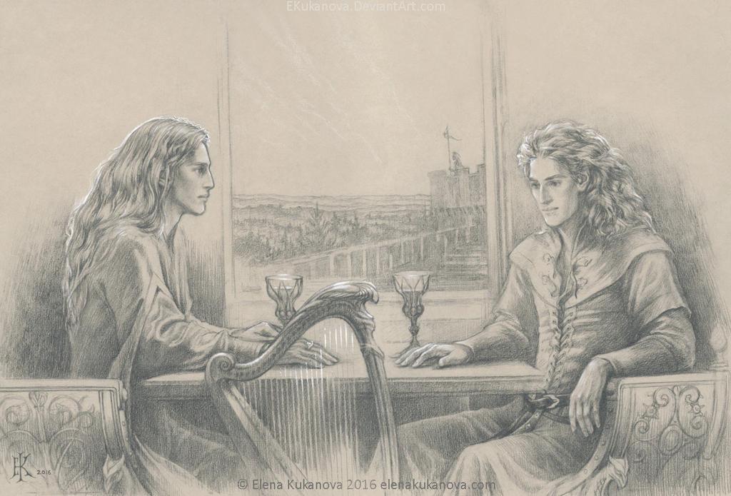 Finrod and Aegnor. The last conversation by EKukanova