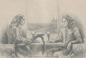 Finrod and Aegnor. The last conversation by EKukanova