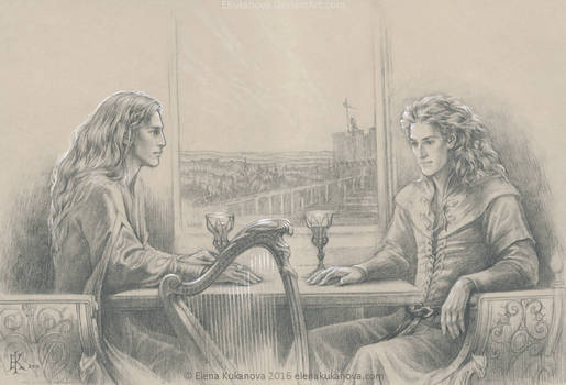 Finrod and Aegnor. The last conversation