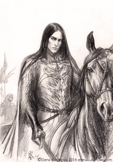 Caranthir -sketch by EKukanova