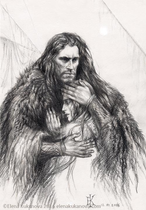 Arvedui and Firiel by EKukanova