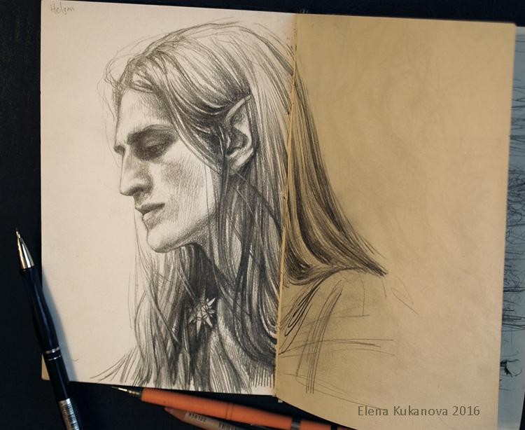 Helgon -sketch by EKukanova