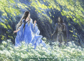 Encounter of Beren and Luthien by EKukanova
