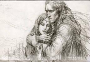 Angrod and Eldalote- sketch by EKukanova